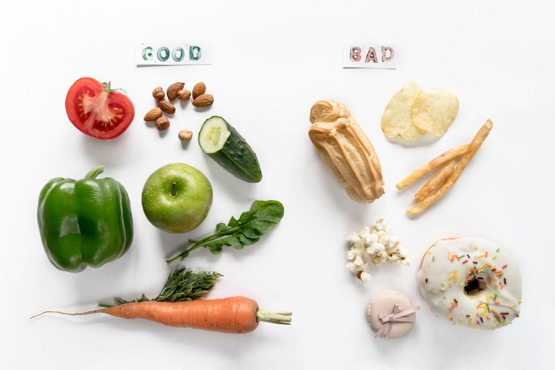 zdrowe vs niezdrowe produkty żywnościowe